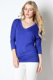 Vneck Banded Top