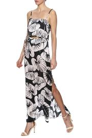 Cutout Silk Maxi Dress