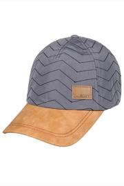 Quilted Faux-suede Cap