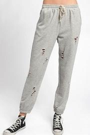 Distressed Knit Joggers