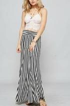 Black White Maxi Skirt