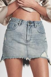 Blue-storm Denim Skirt