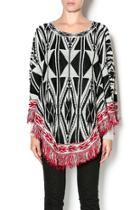 Fringed Poncho Sweater