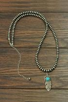 Natural Turquoise Western-necklace
