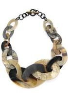 Link-horn Statement Necklace