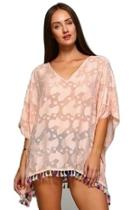Pink Silk Coverup