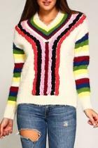 Multi-color Furry Sweater