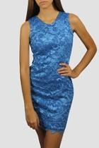 Sleeveless Sheath Lace Dress