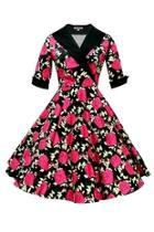 Ava Pink Rose Dress