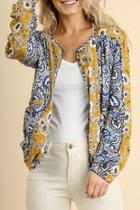 Patterned Bomber Jacket