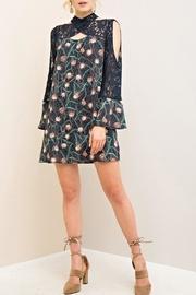 Navy Lace Floral Dress