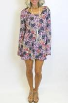 Floral Laceup Dress