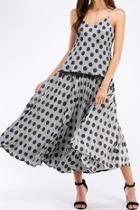 Polkadot Wide Skirt