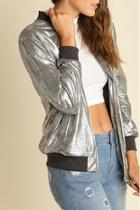 Metallic Zippered Jacket