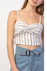 White Striped Crop Top