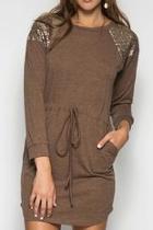 Brown Sequin Dress