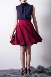 Wine Circled Skirt