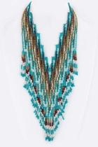 Layer Beads Tribal-necklace