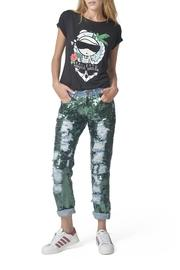Green Sequined Jeans
