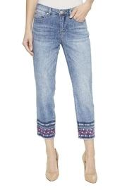 Embroidered Hem Jeans