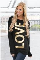 'love' Graphic Sweater