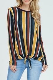 Striped Knit Tie-front