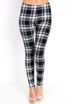 Black & White Plaid Leggings