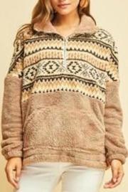 Fleece Print Pullover