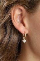 Heart-drop Gold-plated Earrings