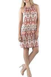 Printed Tieback Dress
