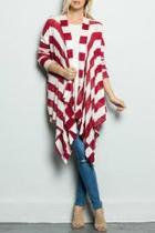 Red Striped Cardigan