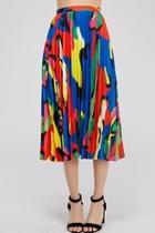 Colorful-print Midi Skirt
