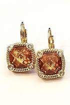 Citrine Zirconia Earrings