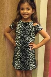 Leopard Cold Shoulder Dress