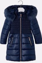 Navy Hooded Coat