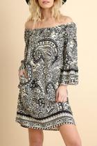 Paisley-print Day Dress