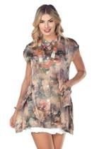 Floral Button-up Tunic
