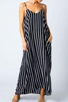 Striped Harem Maxi-dress