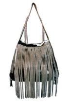 Grey Fringe Bag