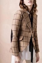 Brown Striped Blazer