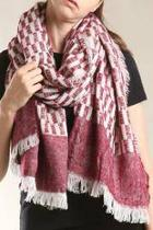 Burgundy Patterned Scarf