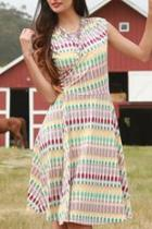 Kaleidoscope Wrap Dress