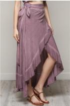 Wrap Woven Skirt