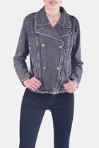 Charcoal-wash Denim Jacket