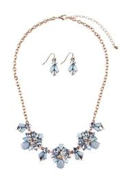 Floral-statement Necklace-&-earring Set