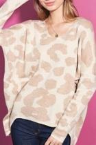 Leopard Vee Neck Sweater