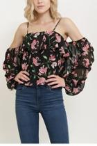 Offshoulder Flower Top