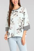 Floral Dolman Sleeve Top