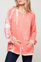 Peachy Tie-dye Knit