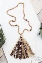 Ashlyn Rose Beaded Tassel Necklace